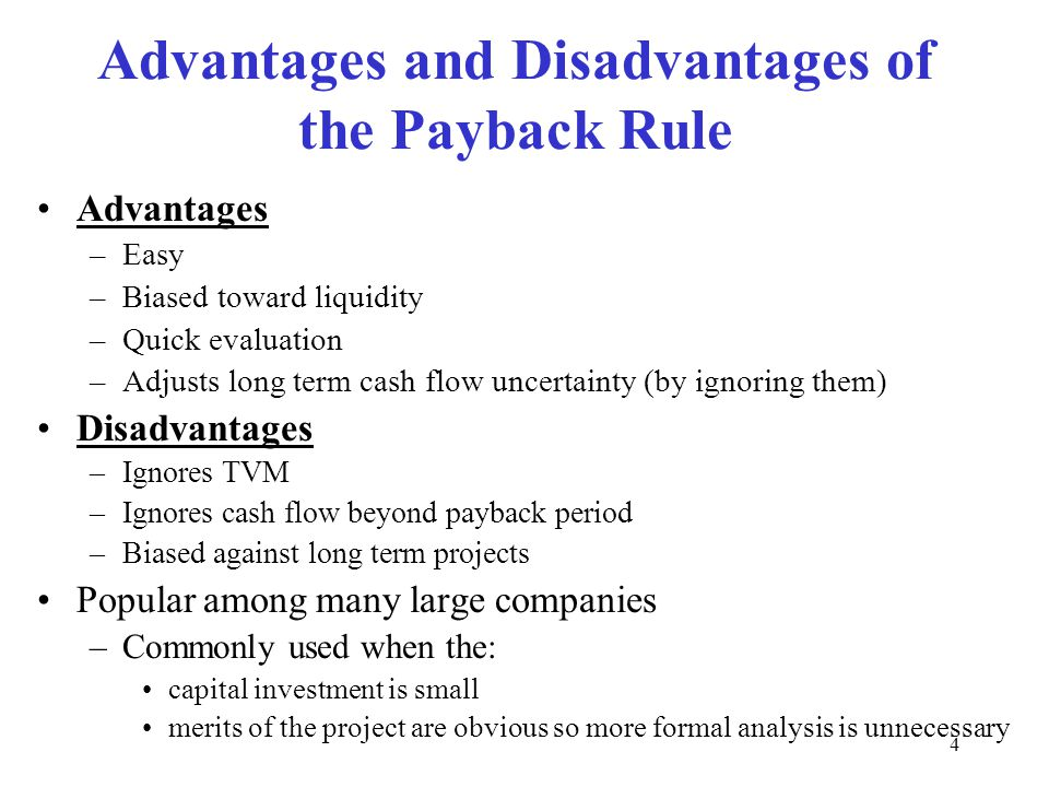 advantages and disadvantages of capital investment
