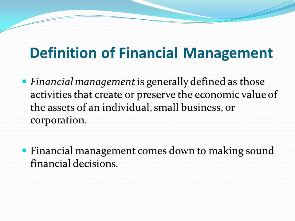what is the financial management