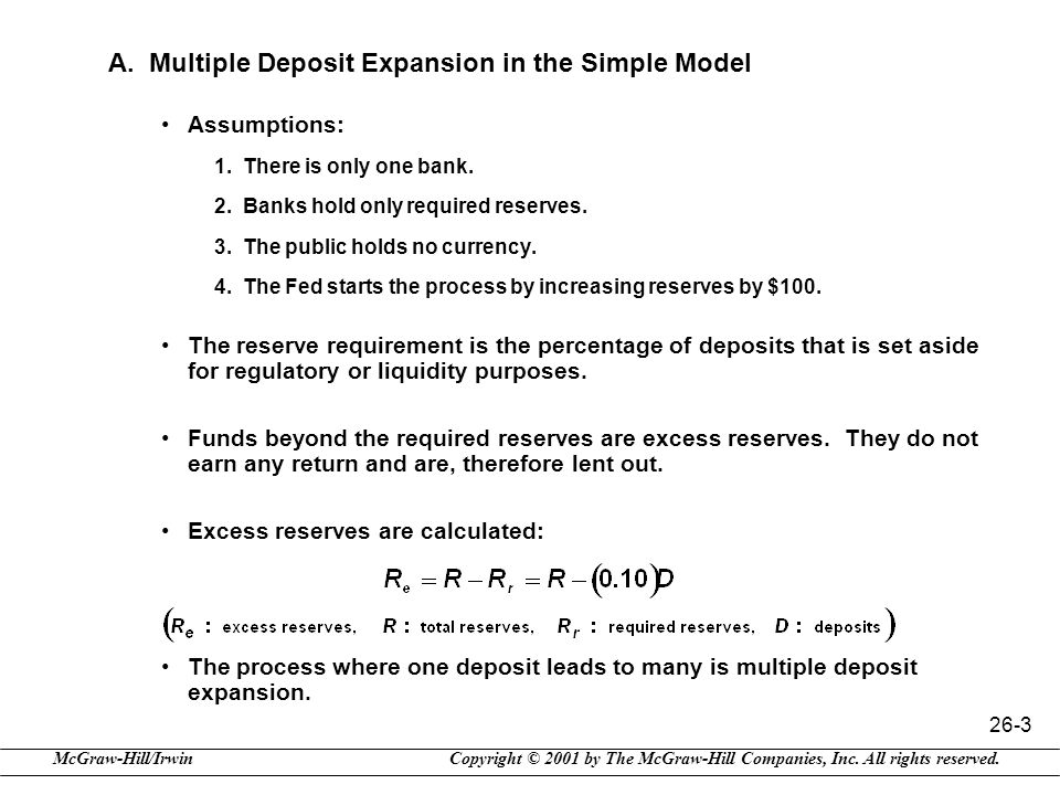 A. Multiple Deposit Expansion in the Simple Model