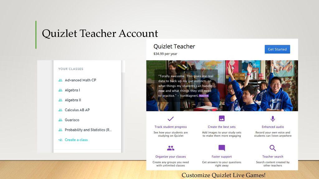 Kahoot & Quizlet Live  - ppt download