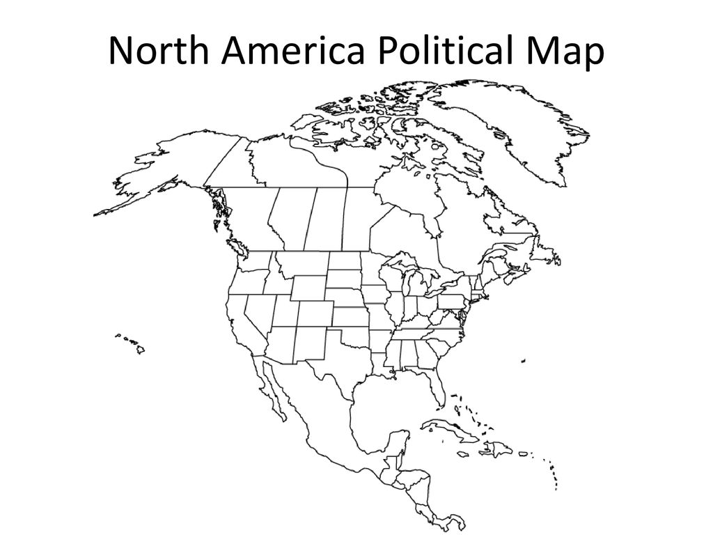 North America Political Map - ppt download