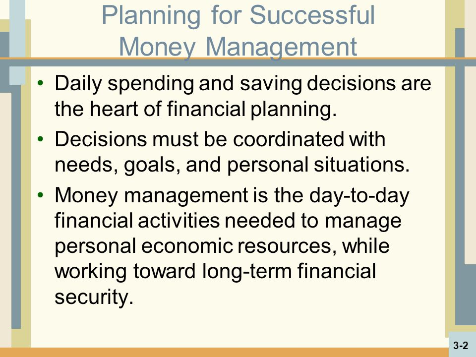 Planning for Successful Money Management