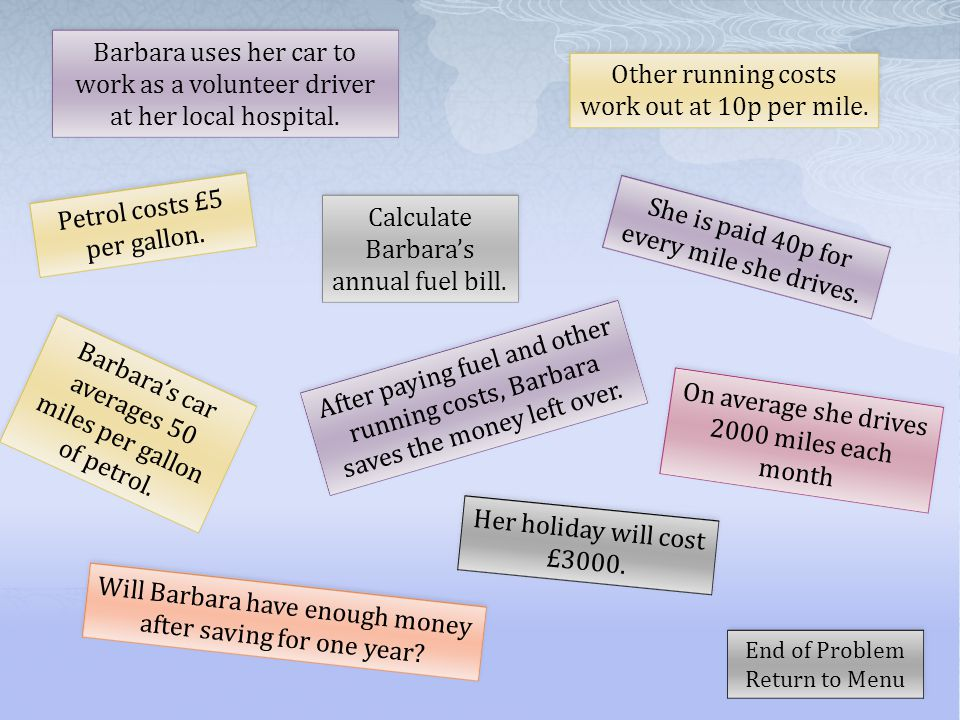 Other Running Costs Work Out At 10p Per Mile