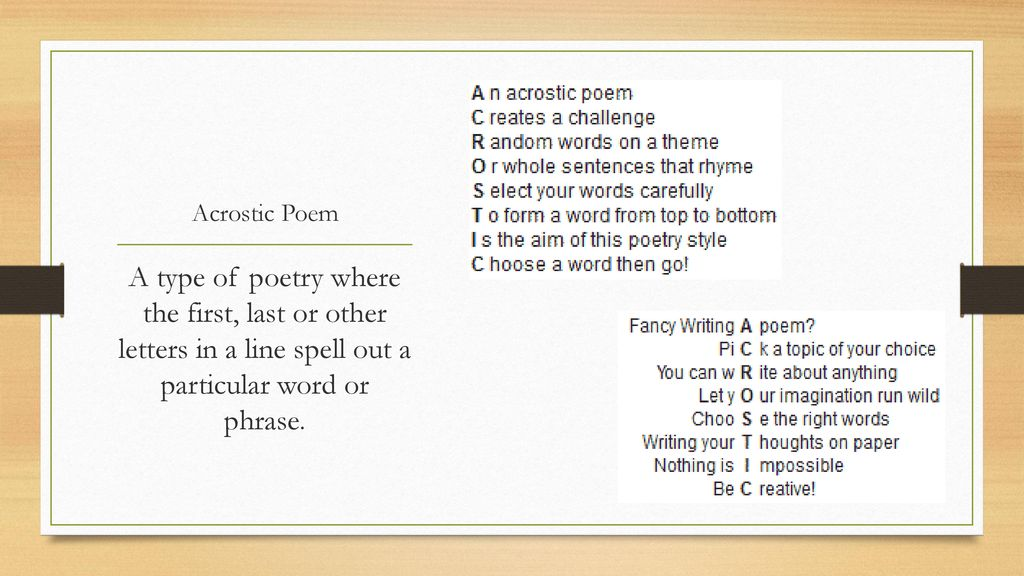 Major Types of Poems. - ppt download