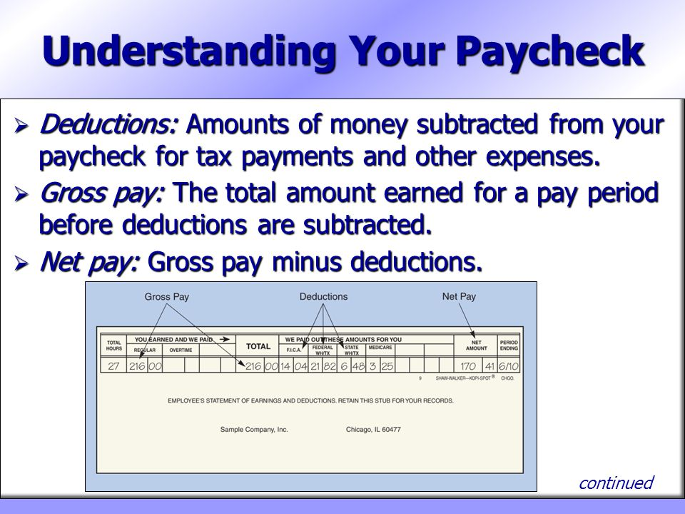 Part 6—Managing Your Income - ppt download