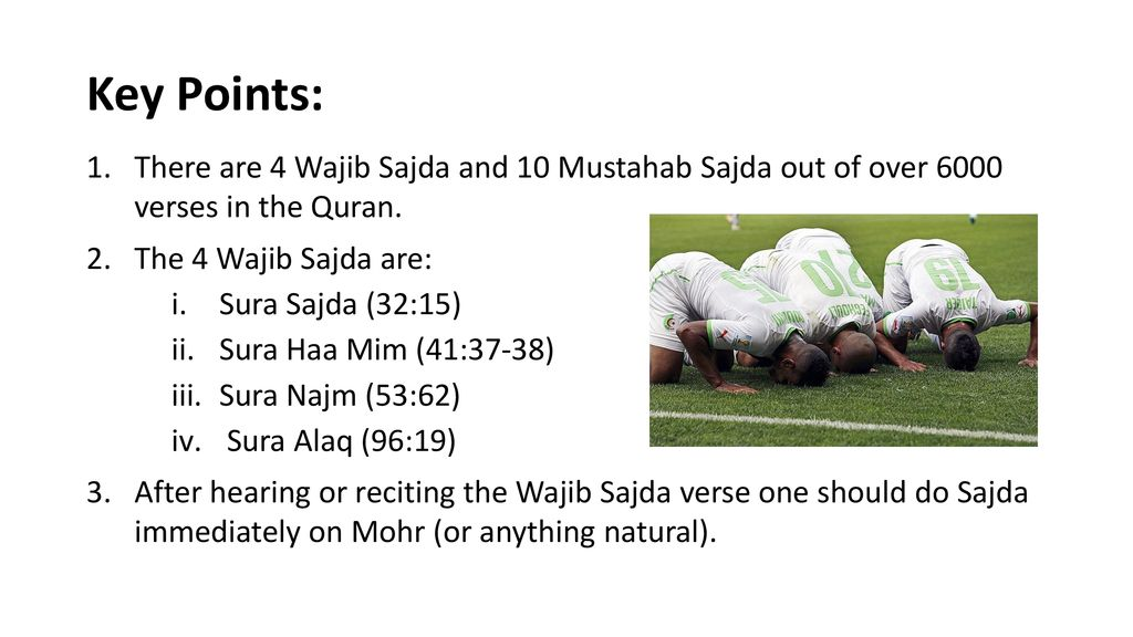 Sajdas in the Qur'an Class 5 – Lesson ppt download
