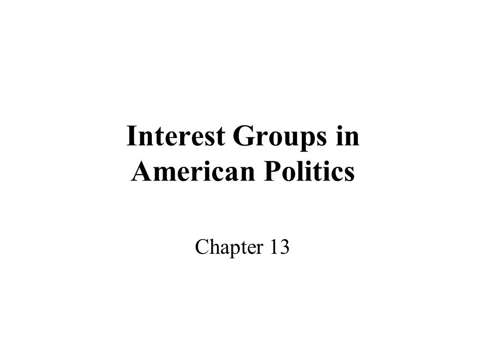 Interest Groups in American Politics