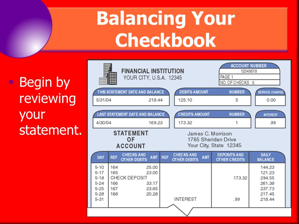 Chapter 25 Checking Accounts Ppt. Balancing Your Checkbook. Worksheet. Balancing Your Checkbook Worksheet At Mspartners.co