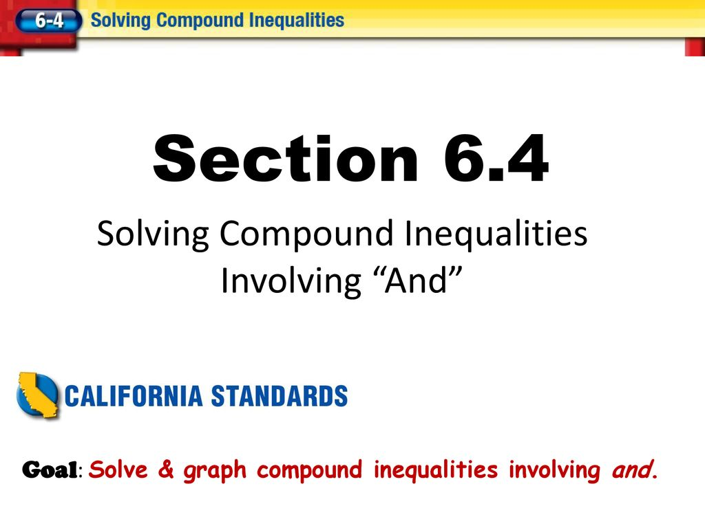 - Solving Compound Inequalities - Ppt Download