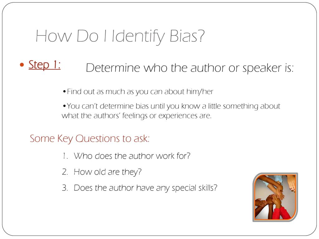 What is Bias? When a writer can't hide his/her feelings, or