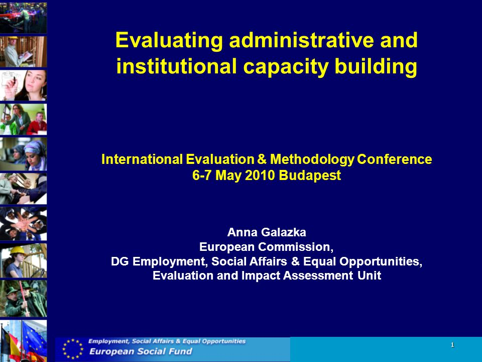 Evaluating administrative and institutional capacity building