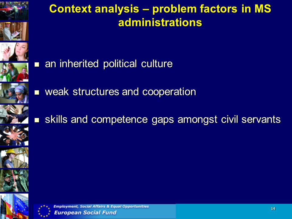 Context analysis – problem factors in MS administrations