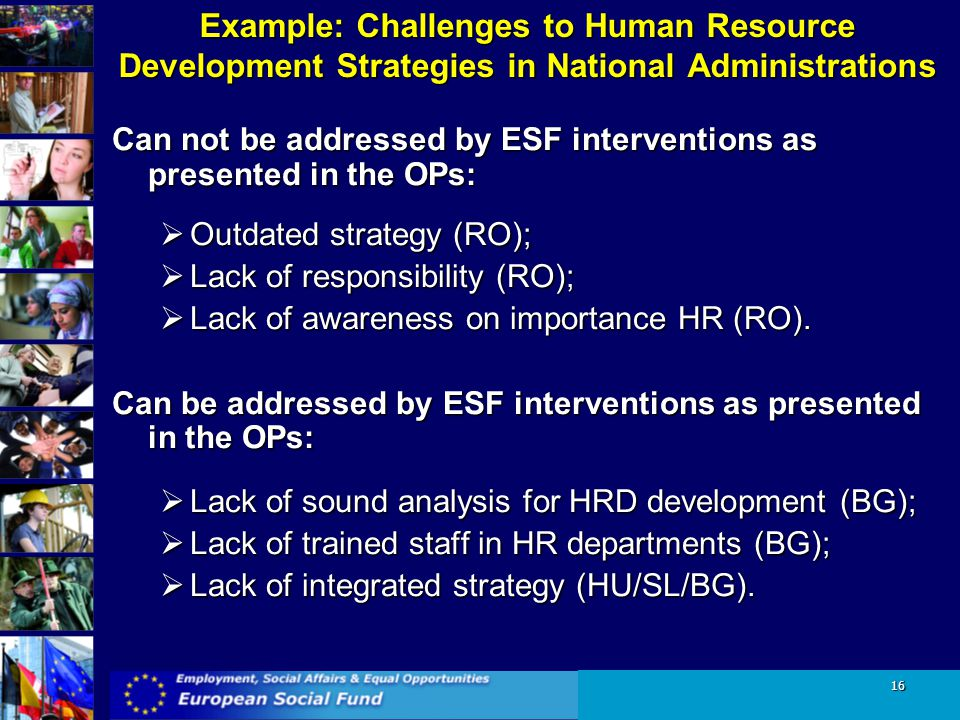 Example: Challenges to Human Resource Development Strategies in National Administrations