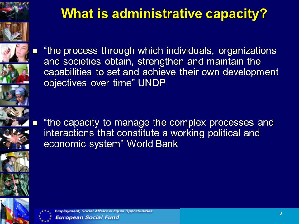 What is administrative capacity