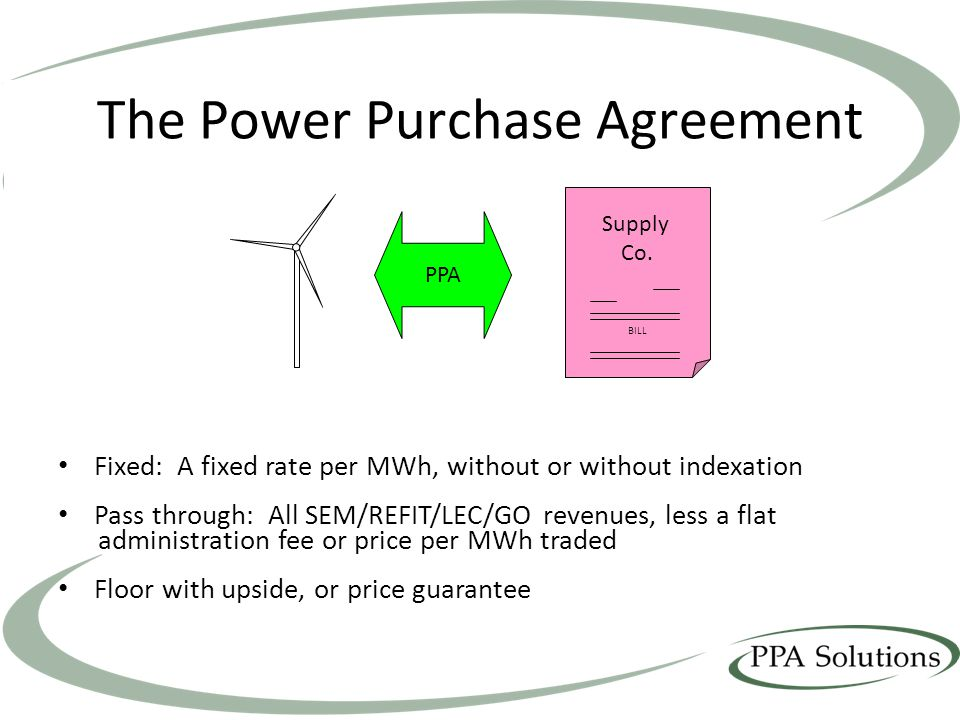 Potential Impact On Ppa Contracts Ppt Video Online Download