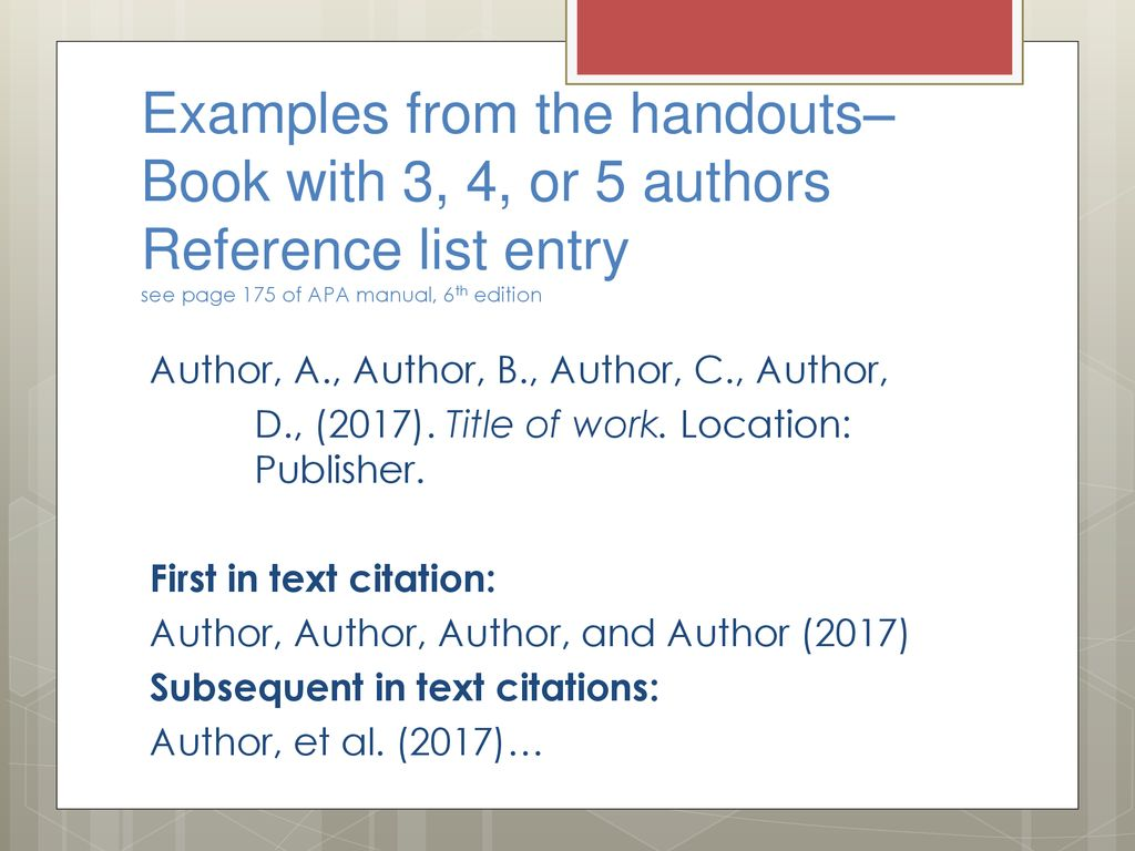 Apa Helps Connection Between In Text Citations And The