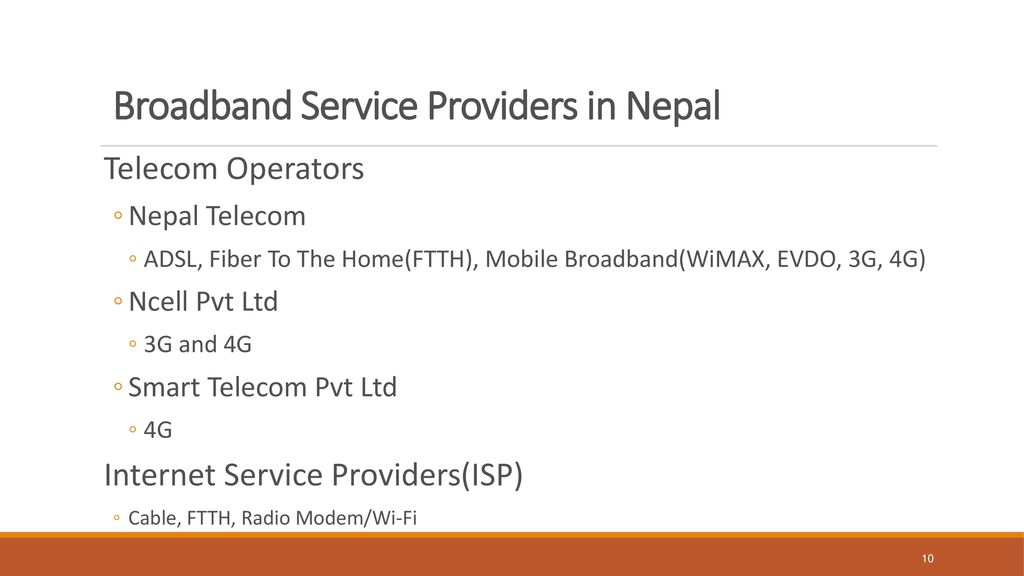 Affordable Broadband with Adequate Quality throughout Nepal