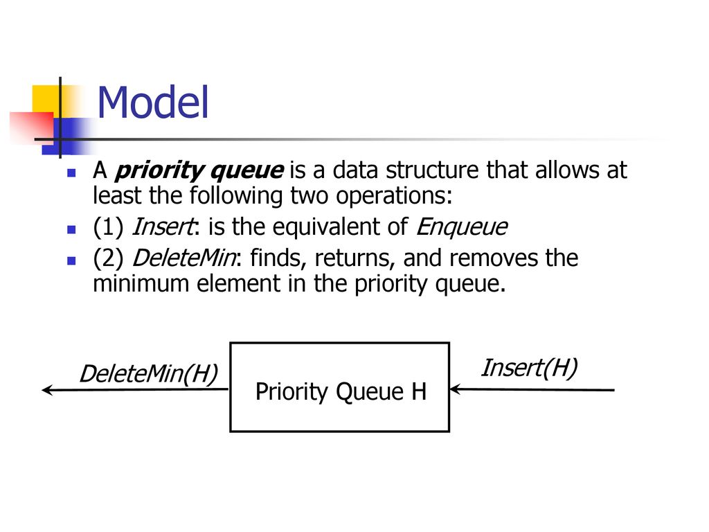 Data Structures and Algorithm Analysis Priority Queues