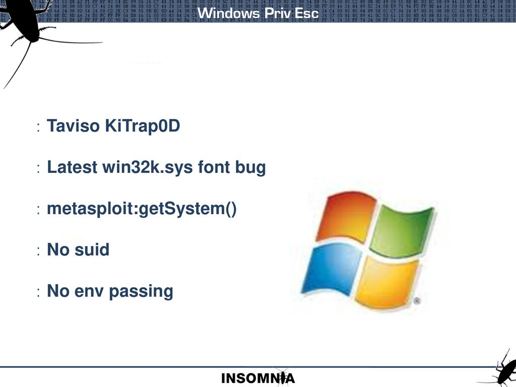 ENCYCLOPAEDIA OF WINDOWS PRIVILEGE ESCALATION - ppt download