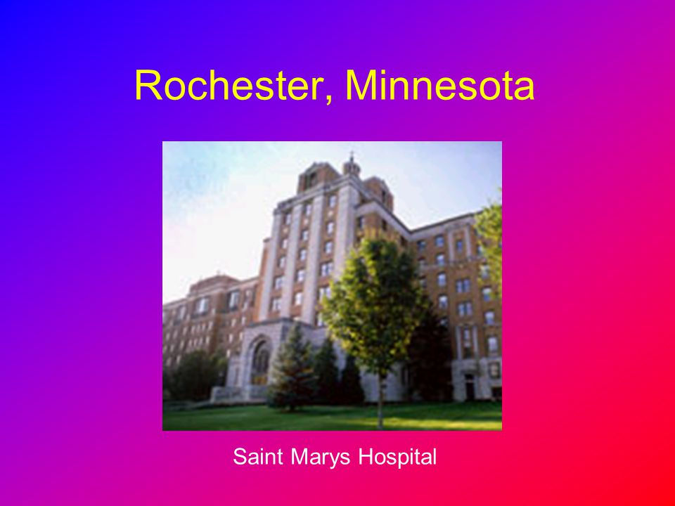 Medical system in the US---Mayo clinic - ppt download