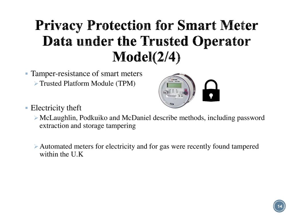 Smart Meter Data Privacy: A Survey - ppt download
