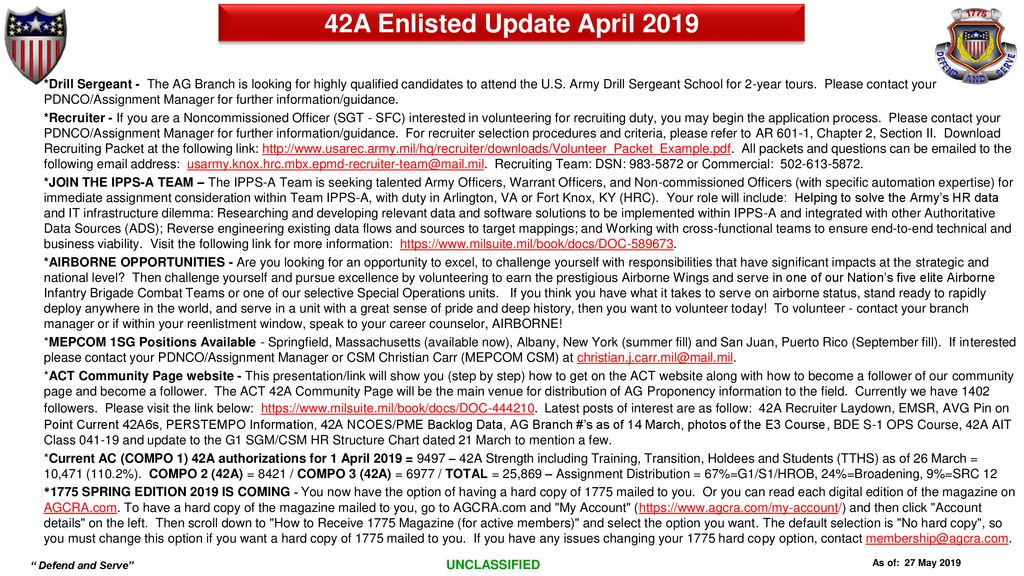 42A Enlisted Update April ppt download