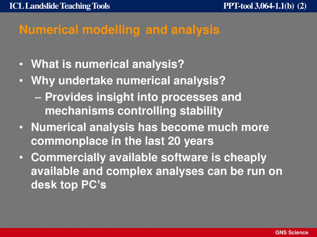 Numerical Analysis of slopes - ppt download