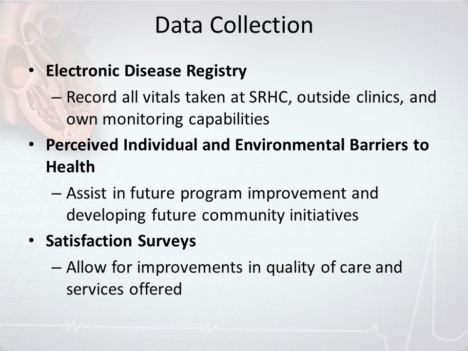 Data Collection Electronic Disease Registry