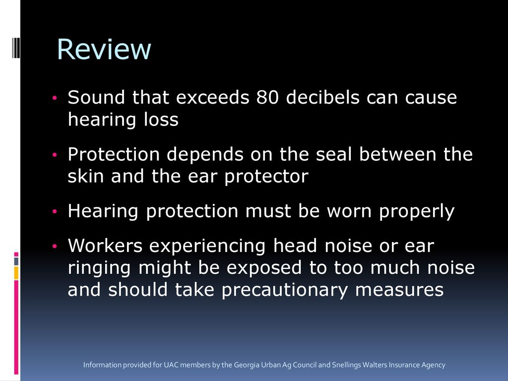 Protecting Against The Hazards Of Unsafe Noise Levels Ppt Download
