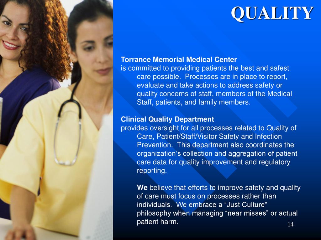 Welcome to the Medical Staff of Torrance Memorial Medical Center
