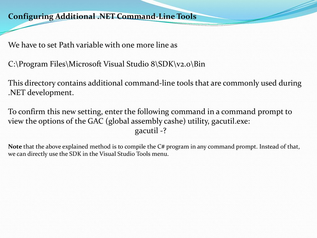 The Role of Command Line Compiler (csc exe) - ppt download