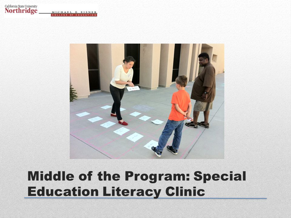 Middle of the Program: Special Education Literacy Clinic