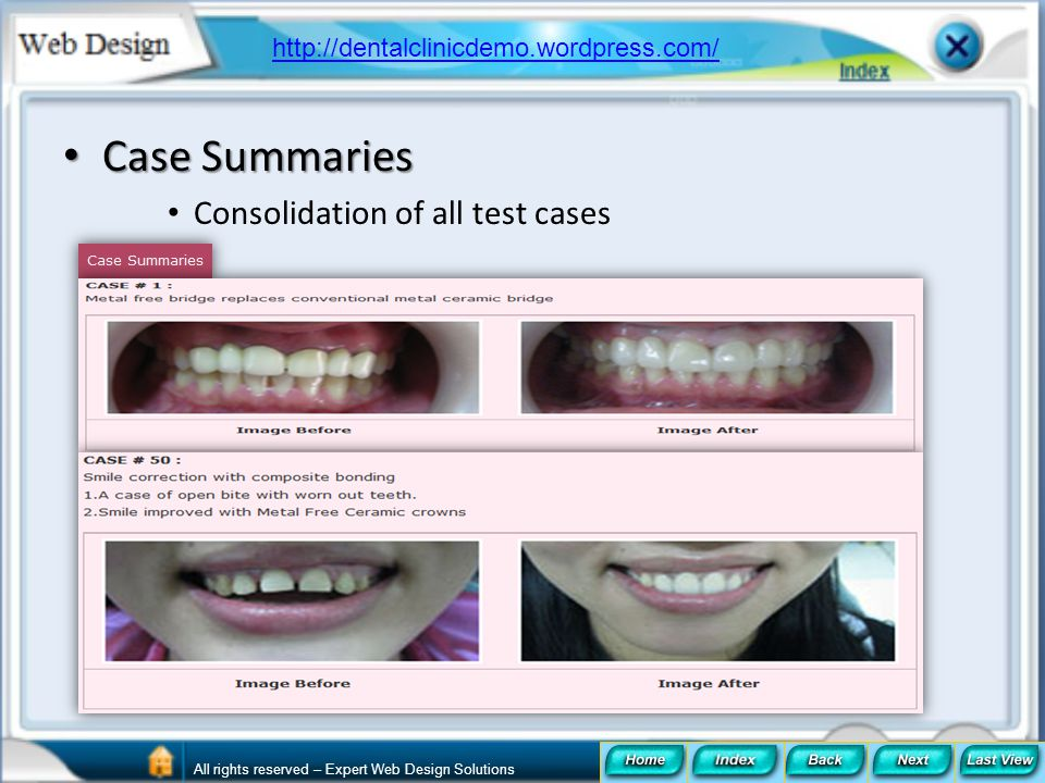Case Summaries Consolidation of all test cases