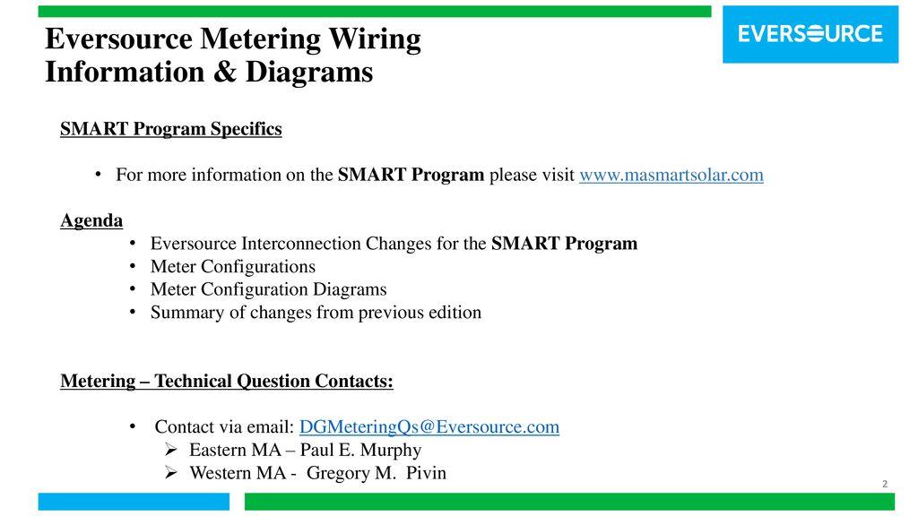 eversource metering wiring information & diagrams