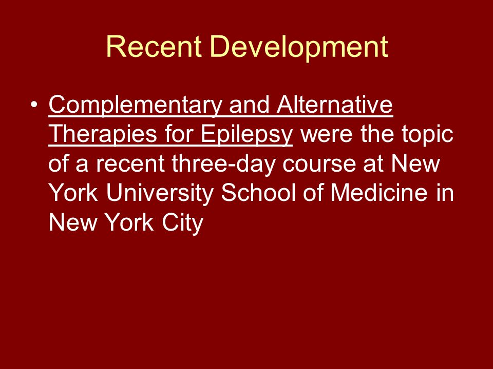 complementary and alternative therapies for epilepsy