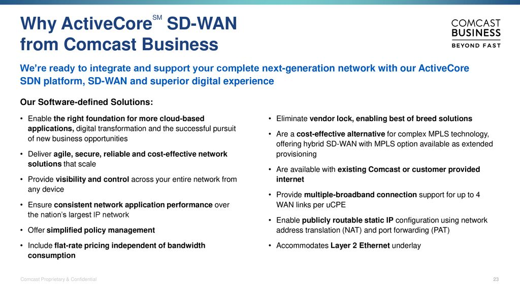 ActiveCoreSM and SD-WAN Unleashing the Power of Virtualized
