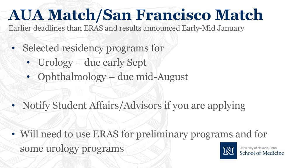 ERAS Workshop: Nut & Bolts for Applying to Residency - ppt