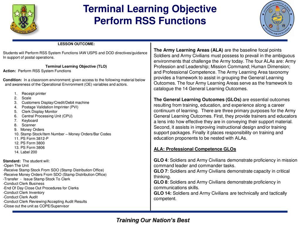 Inter-Service Postal Training Activity - ppt download