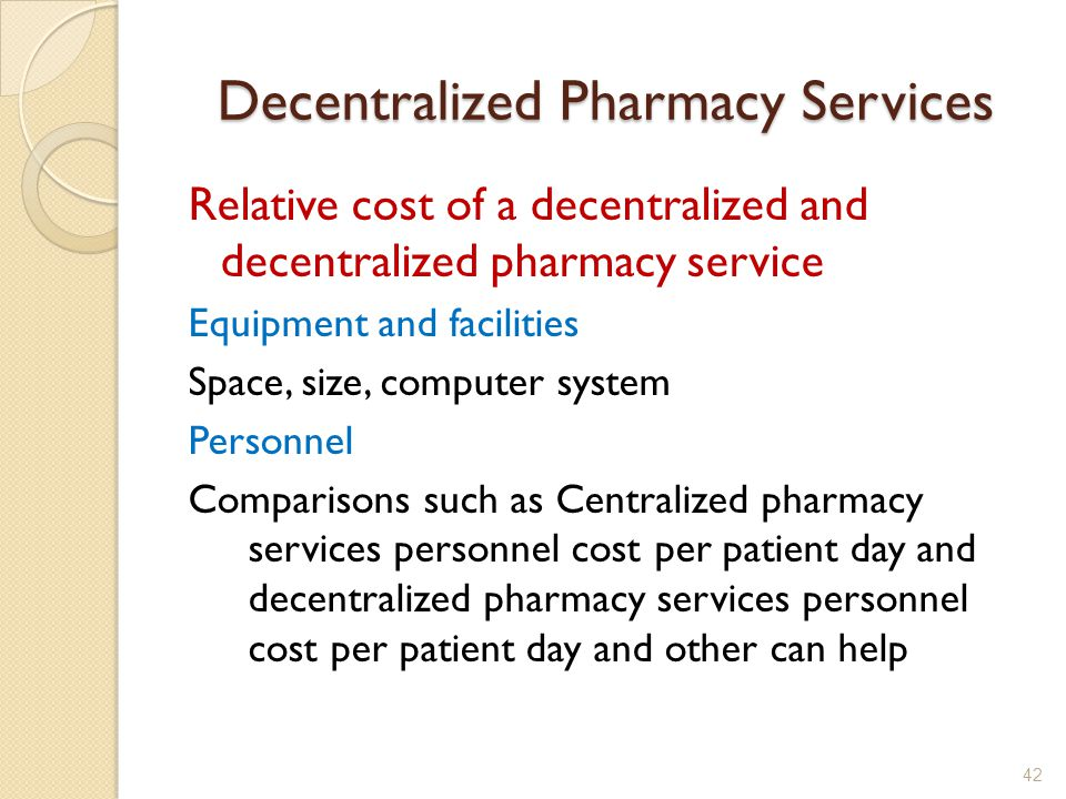 Decentralized Pharmacy Services - ppt video online download
