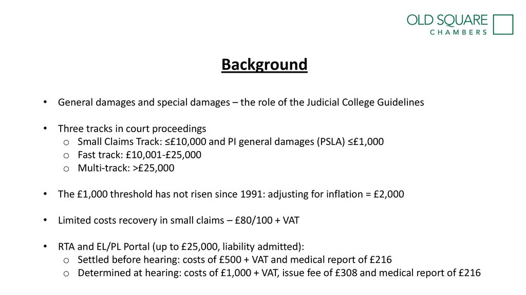 Judicial College Guidelines >> Barriers To Justice In Personal Injury Claims Adam Ross