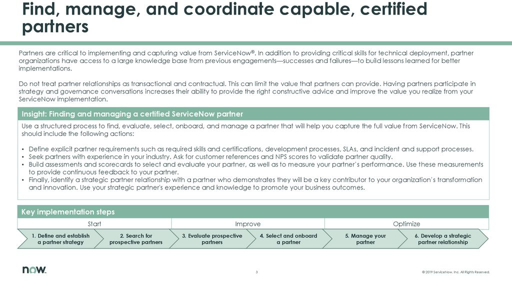 Find, manage, and coordinate capable, certified partners