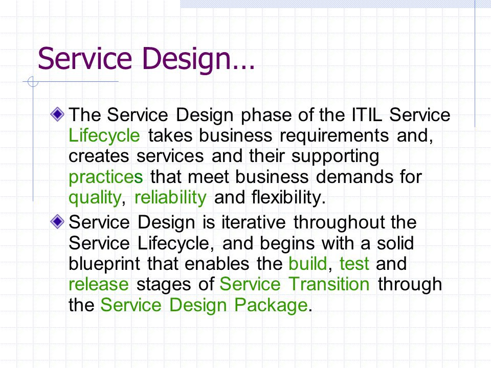 Itil information technology infrastructure library ppt video 26 service design malvernweather Gallery