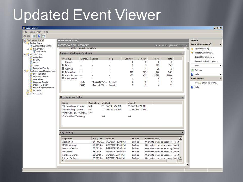Updated Event Viewer