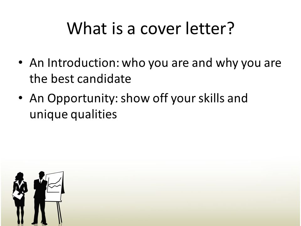 what is a cover letter an introduction who you are and why you are the
