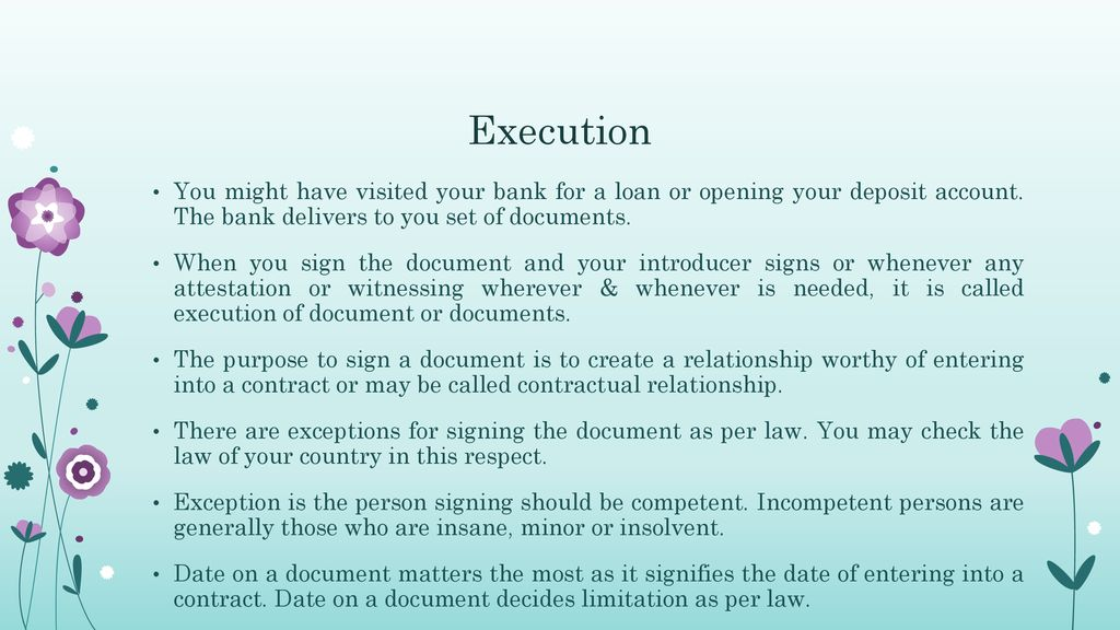 signing and dating legal documents