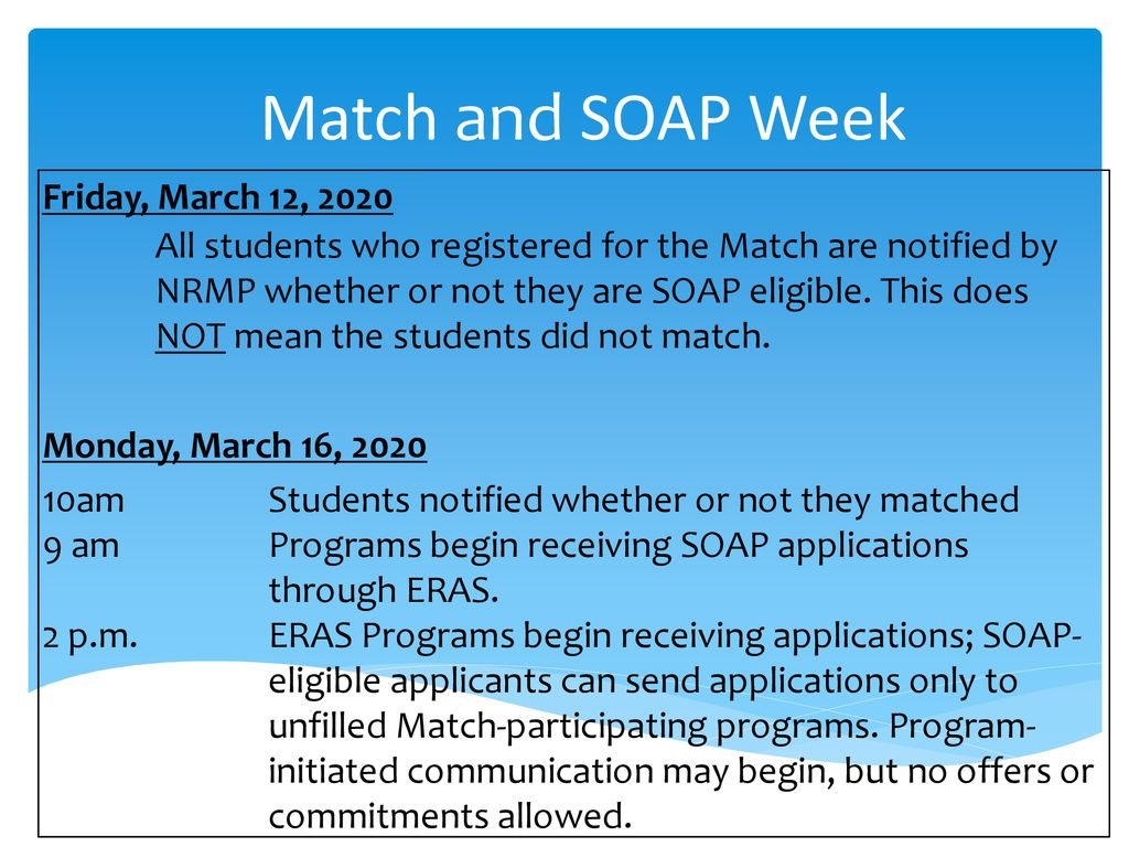 Soap List Of Unfilled Programs 2020.Ms3 Student Academy March 22 Ppt Download