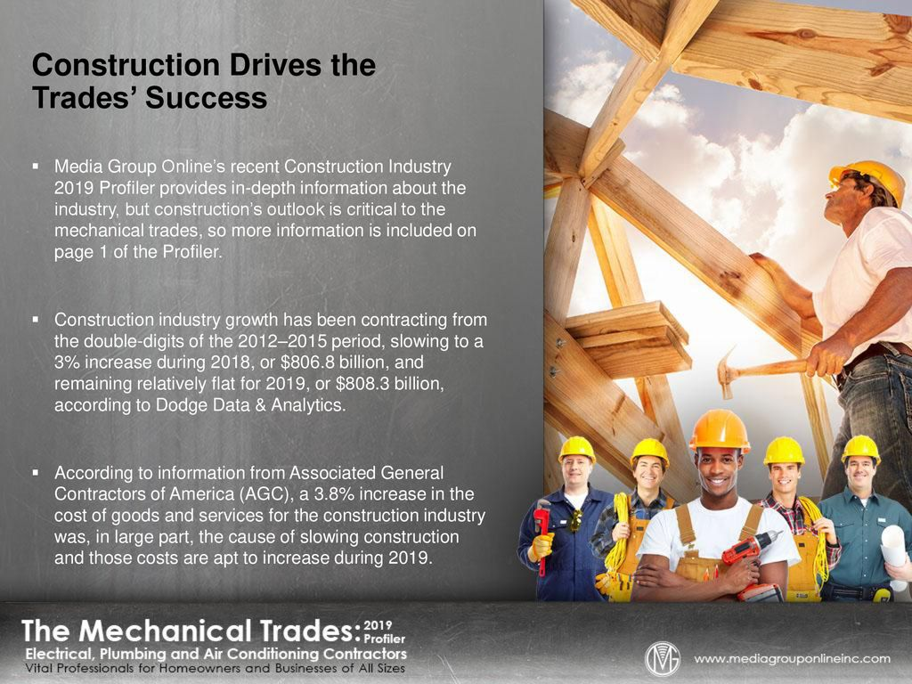 Construction Drives the Trades' Success - ppt download