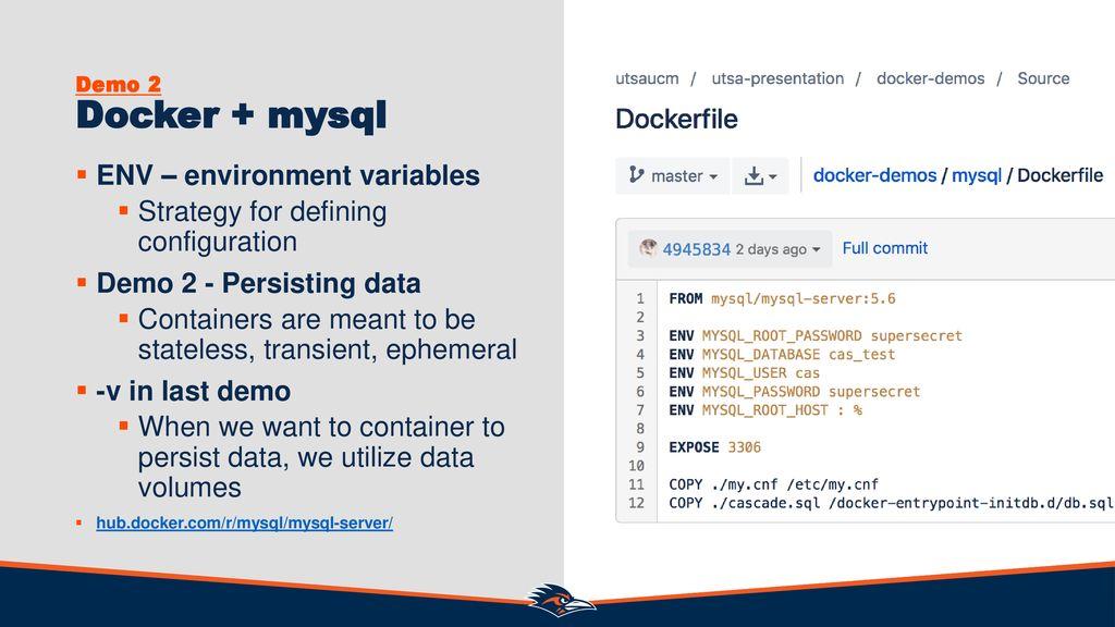 Dockerfile Environment Variables