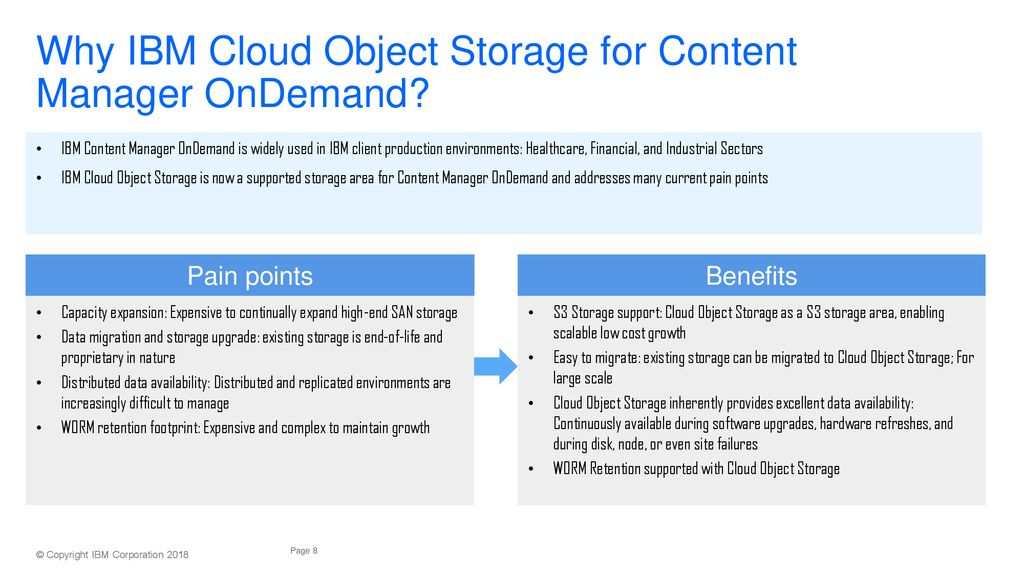 IBM Cloud Object Storage with IBM Content Manager OnDemand