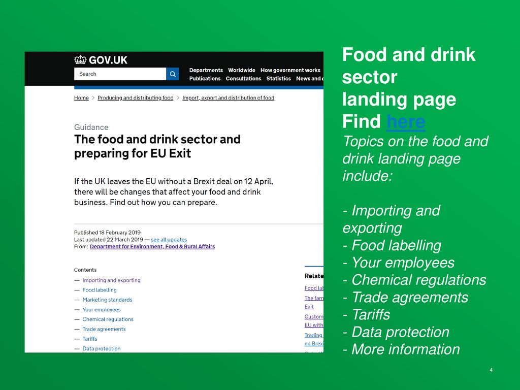 Preparing businesses for EU Exit - ppt download